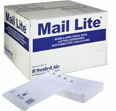 TWIN PACK of Mail Lite 100 X Size B00 120mm X 210mm Bubble Lined Envelopes White