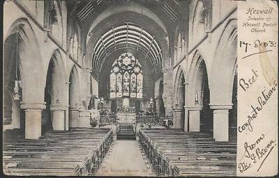 Heswall, Wirral, Merseyside - Church interior - Wrench postcard c.1903