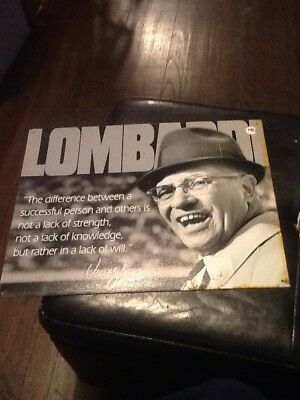Football legend vince Lombardi quote tin sign. Reproduction. Used Dated 2010 USA
