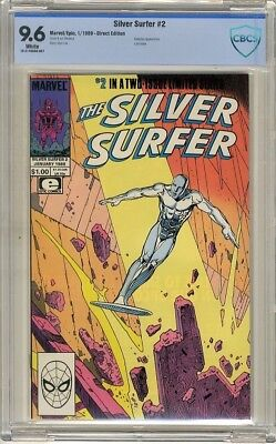 Silver Surfer  #1  Limited Series   CBCS  9.6  NM+  White pages 1/89