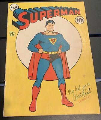 Superman #6 (Golden Age Dc 1940) Fn All Star Ad #1.