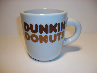 Dunkin Dounts Restaurant Thick Heavy Duty Advertising Mug Doughnut Coffee Cup