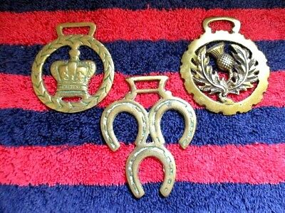 3 Vintage Horse Brasses - Made In England