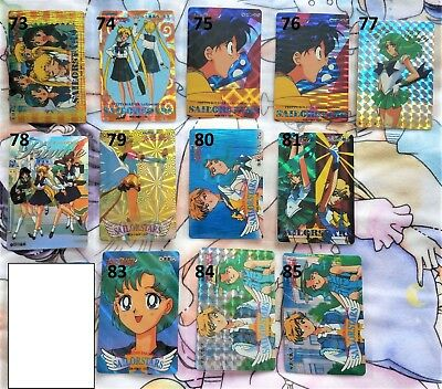 YOUR CHOICE Sailor Moon vintage prism holographic sticker trading cards A