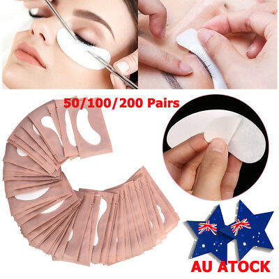 50 / 200x Under Eye Curve Eyelash Pads Gel Patch Lint Free Lash Extension Beauty