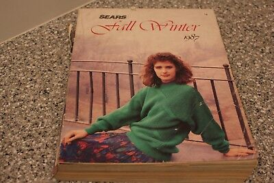 1987 Vintage SEARS Fall Winter Annual Catalog Free Fast Shipping