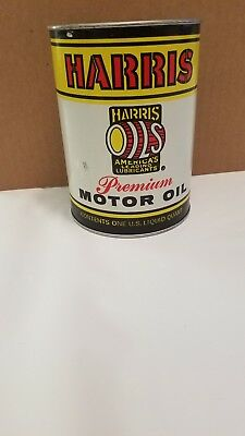 Vintage Harris Oil 1 Quart Can Great Condition!