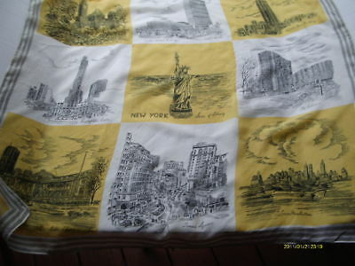 New York City Souvenir Scarf, VIntage, Rayon, Styled by Miss Carrie, Japan