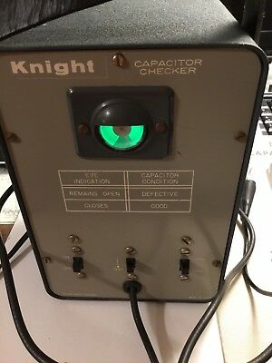 Knight Capacitor Checker  With Magic Eye Working Includes Manual Dates 1950's