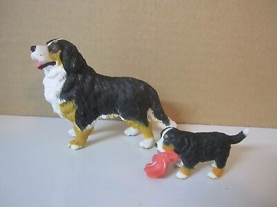 Bernese Mountain Dog And Pup - Breed Figurine