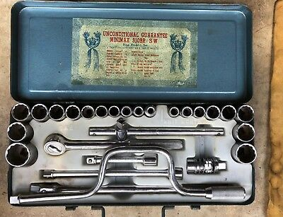 Vintage Mini Max Socket Set 27 Piece Number 310 Set Blue Ribbon Tools
