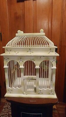 """Beautiful Wood and Metal Wire Domed Decorative Bird Cage 12"""" +"""