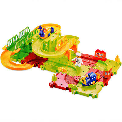Electric Train Play Set Kid toddler Game Toy Battery Operated Railway Xmas Gift