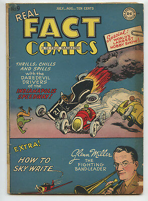 JERRY WEIST ESTATE: REAL FACT COMICS #9 (DC 1947) VG condition NO RES
