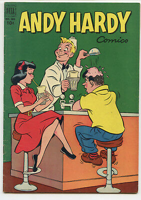 JERRY WEIST ESTATE: FOUR COLOR COMICS #389 ANDY HARDY (Dell 1952) FN condition