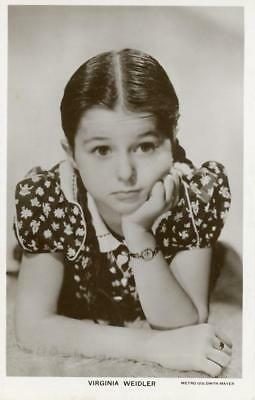 Virginia Weidler classic child actress 3.5x5.5 Real Photo Postcard (s1162)