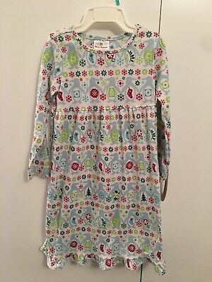Hanna Andersson Girls Christmas Nightgown Long Sleeves Sz 110 (5)