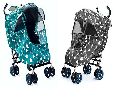 Stroller Weather Shield with UV-Protection, Mosquito Net, Sun Shade,Large Window