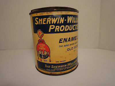 Vintage Advertisement The Sherwin-Williams Co. Products - One Quart Paint Can