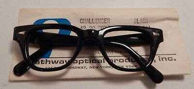 Vintage Pathway Optical Challenger Black 42/20 Eyeglass Frame New Old Stock