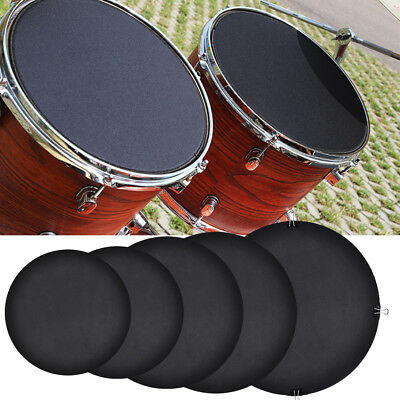 10pcs Bass Drums Drumming Practice Rubber Pad Sound off / Quiet Mute Silencer