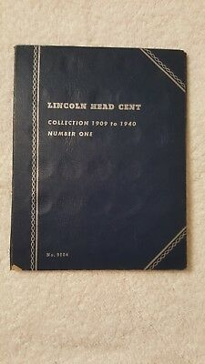 (1909-1940 Wheat penny collection book incomplete)+(4 indian head pennies )