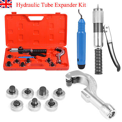 CT-300A Hydraulic Tube Expander Kit Tubing Expanding Tool W/ 7 Expander Heads UK