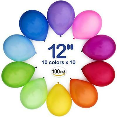 WinkyBoom Balloons Assorted Color 12 Inch 100 Pcs Helium Quality Latex For Party