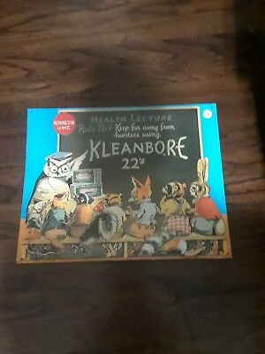 1991 Remington Arms Kleanbore Ammo lightweight Tin Advertising Sign. Used. 16x13