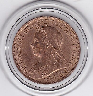 Very  Sharp  1901   Queen  Victoria   Half   Penny   Bronze  Coin