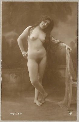 Jean Agelou French Nude Model Rppc Unused Circa 1910-1920 Original Postcard Rare