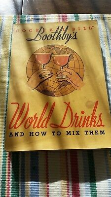 Boothby's World Drinks - 1930/1934  - Original NOT Reprint - cocktail bartender