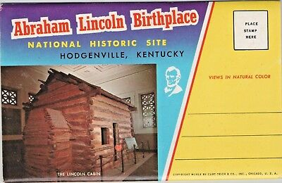 Vintage Abraham Lincoln Birthplace Hodgenville Kentucky Fold Out Booklet KY