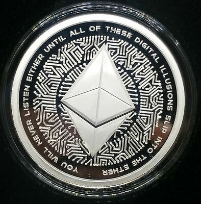 2018 1oz Silver Shield Ethereum Proof Crypto Series MiniMintage Low Mintage!