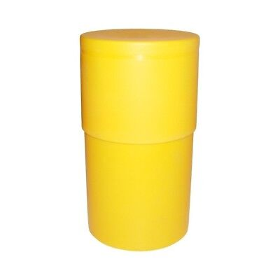 "Le Tube 25 Cigar Humidor Tube YELLOW Tube airtight 9.5"" Travel holder case RARE!"