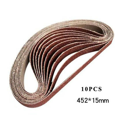 10x 60 Grit 452×15mm Polishing Sanding Belts Aluminum Oxide Abrasive Belt Sander