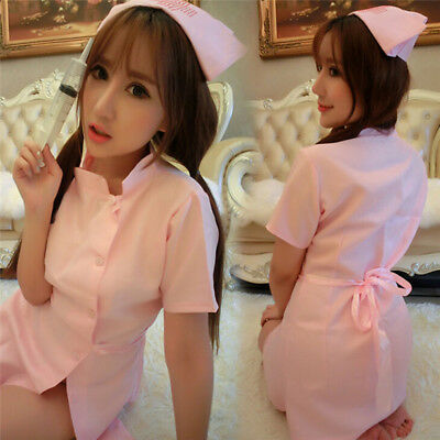 Nurse Uniform Sexy Womens Lingerie Dress Panty  Cosplay Role Play Costume FL