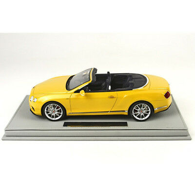 Bentley Continental Gt V8-S Convertible 2014 Yellow Bbr Model 1/18 #p1887Cv