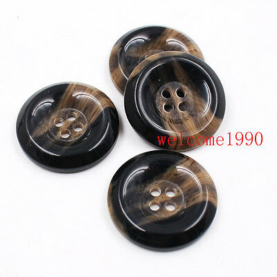 100x Lot 26mm Resin Retro horn Buttons Fashion Women clothes Sewing crafts