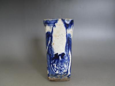 Japanese old Seto ware vase/ Blue & White/ very tasteful/ 7692