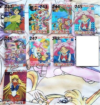 YOUR CHOICE Sailor Moon vintage prism holographic trading sticker cards B