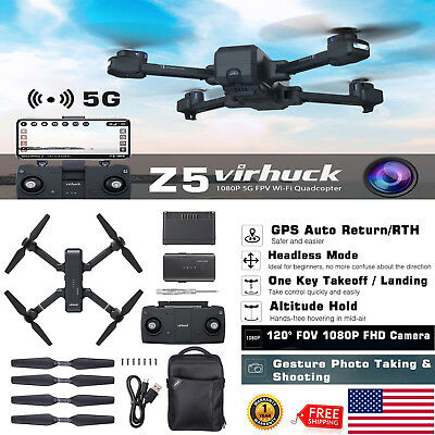 GPS 5G WIFI FPV With Wide Angle HD 1080P Camera RC Quadcopter Drone 30 Minutes