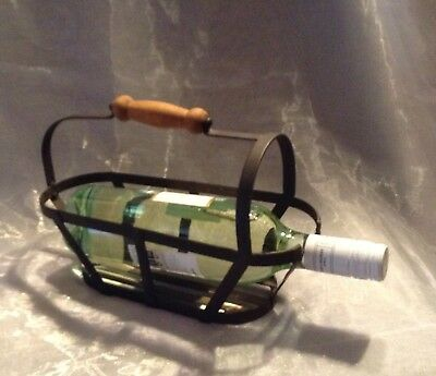 Vintage Rustic Table Wine Holder