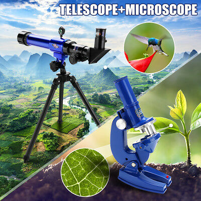 Telescope+Microscope Kids Set Science Nature Educational Astronomy Learning