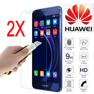 2X Tempered Glass Screen Protector For Huawei P8/P9/P10/P20Plus/Lite Honor 8X