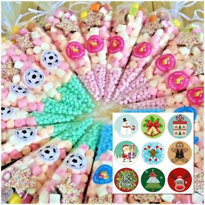 Pre Filled Sweet Cones Kids Birthday Party Bags FREE Themed Stickers