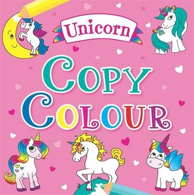 Unicorn Copy and Colour Book Kids Colouring Book Christmas Gift