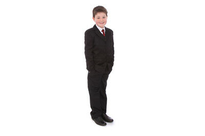 Boys Formal Suit black 5 pieces  Age 14 Years Wedding Christening