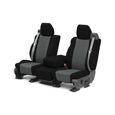 For Toyota Highlander 04-07 Seat Cover NeoSupreme 1st Row Black & Charcoal