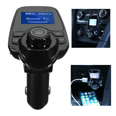 bluetooth MP3 Player FM Transmitter Wireless Radio Car Kit Adapter USB Charger